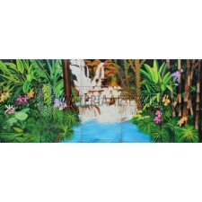 Decor Jungle waterval met afmetingen 6.25 x 2.5 meter,