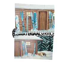 Decor Winter / Kerstdecor afm. 62,5 meter