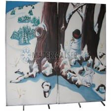 Decor Winter 2 delig 2,30  x 2,30 mtr.inklapbaar.